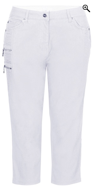 Zhenzi - Stomp pants stumpebukser - White