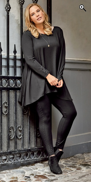 d7efda20 CISO - Leggings with rivets in the sides and rubber band in whole ...