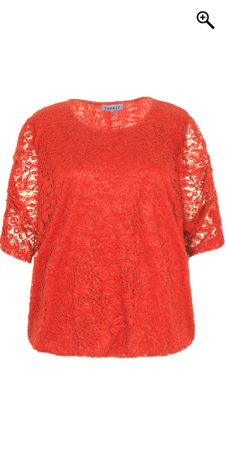 Zhenzi - Lace blouse - Red clay