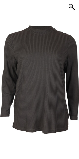 Handberg - T-shirt med turtle neck - Black
