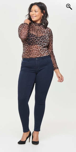 ONLY Carmakoma - Strechy push up regular skinny jeans