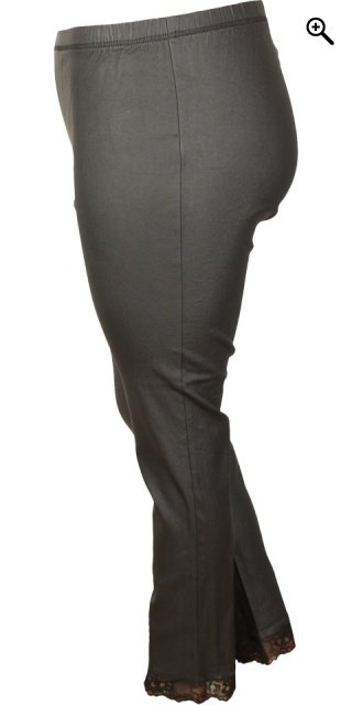 Zhenzi - Coated leggings - Black