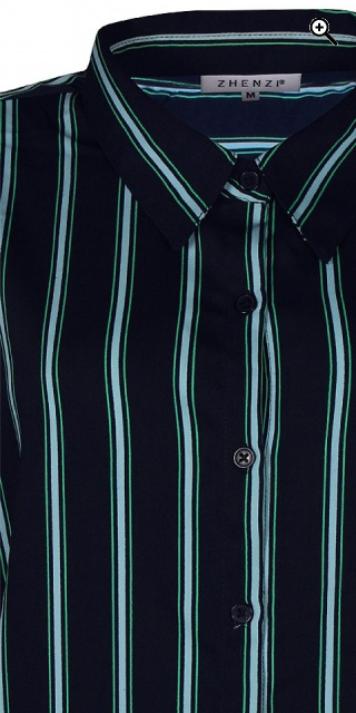 Zhenzi - Long-sleeve striped shirt