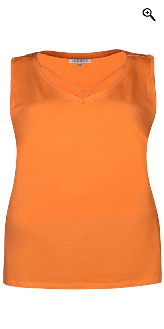 Zhenzi - Smart strechy top - Amber orange