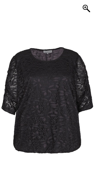 Zhenzi - Lace blouse - Black