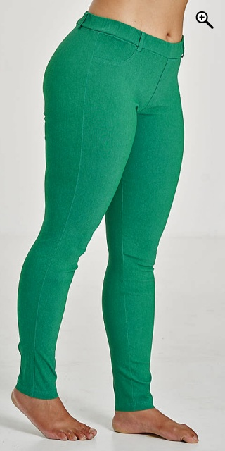 Sandgaard - Basis long stretchable bengalin pants - Green