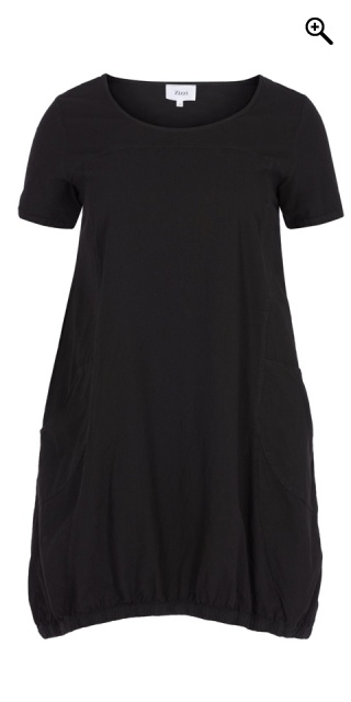 Zizzi - Dress with short sleeves - Black