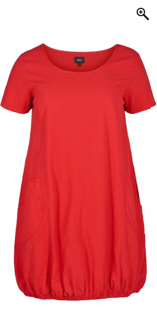 Zizzi - Dress with short sleeves - Lipstick red