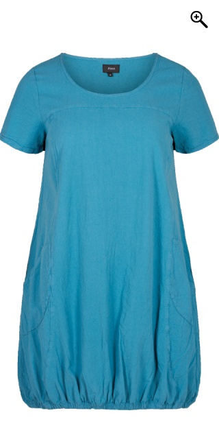 Zizzi - Dress with short sleeves - Storm blue