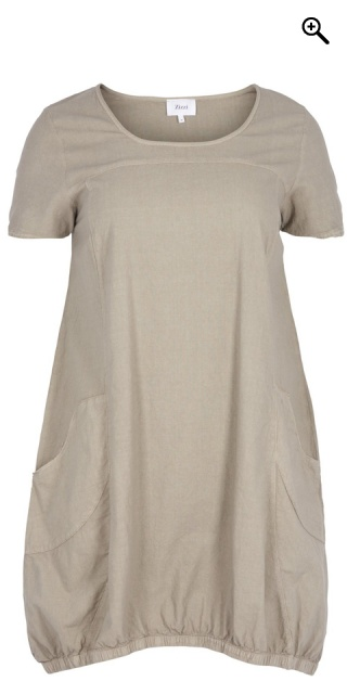 Zizzi - Dress with short sleeves - Elephant skin