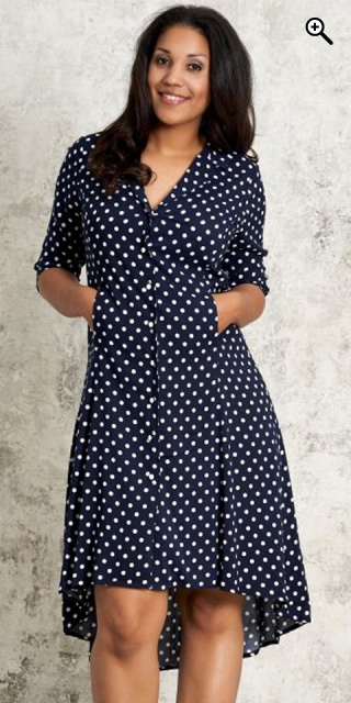 Navy and white dot