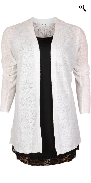 Zhenzi - Open cardigan - White