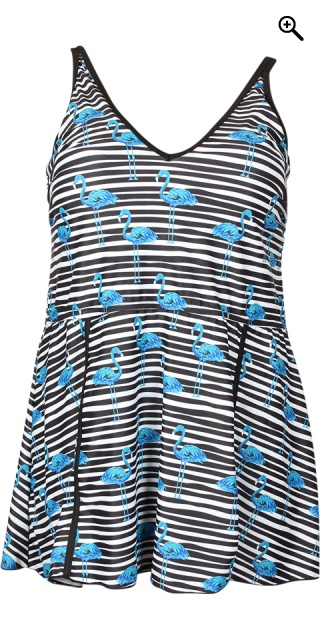 Zhenzi - Swim dress flot stribet badekjole