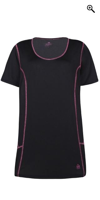 985f863cec13 Zhenzi - Strechy fitness bluse med korte ærmer - Sort