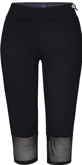Zhenzi - Fitness capri legging - Black