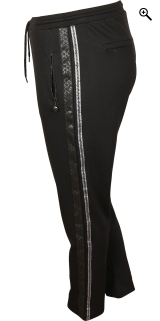 Cassiopeia - Siggi 7/8 strechy pants - Black w/band/rubber