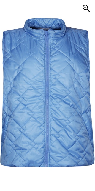 Zhenzi - Nice zipped-through quilt vest - Alure blue