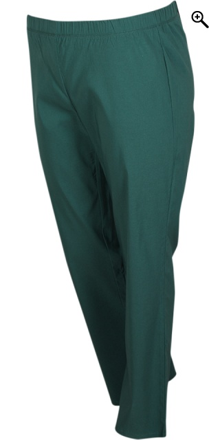 Zhenzi - Jazzy bengalin pants rubber band in whole the waist - Bug green