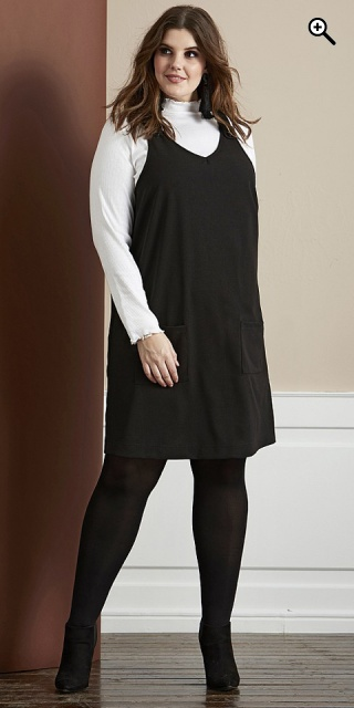 Zhenzi - Spencer kleid n/s - Black
