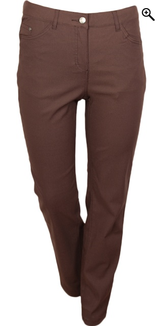 Zhenzi - Stomp leggings passform - Sepia brun