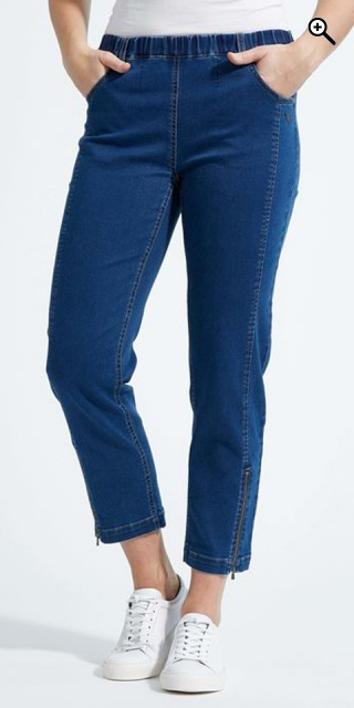 LauRie - Piper regular cropped jeans - Denim