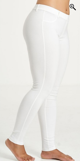 Sandgaard - Basis long stretchable bengalin pants - White