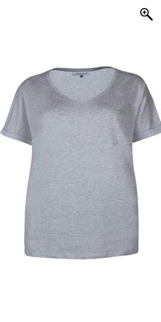Zhenzi - T-Shirt - Light grau melange
