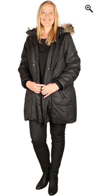Handberg - Down jacket med flot animal print - Black