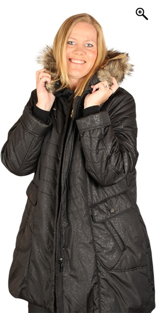 Handberg - Down jacket med flot animal print