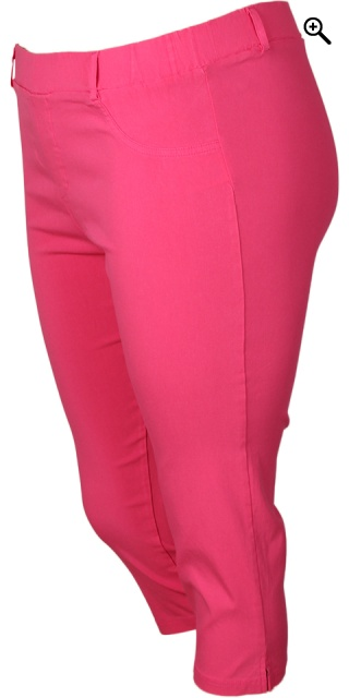 Sandgaard - Basis stretchable bengalin capri pants - Fuchsia