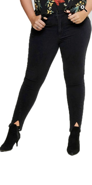 ONLY Carmakoma - Carrina high waist jeans - Black