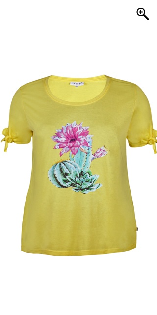 Zhenzi - T-shirt i bomull - Sunflower