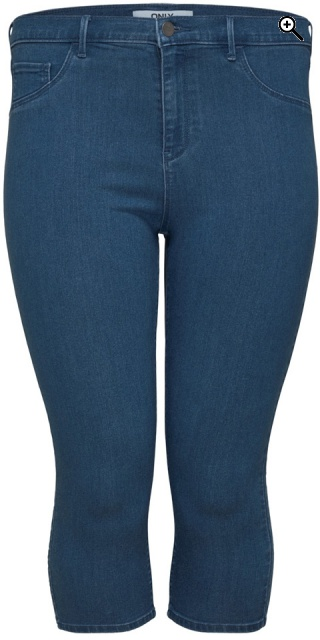 ONLY Carmakoma - Smart knickers stump trousers in strechy denim