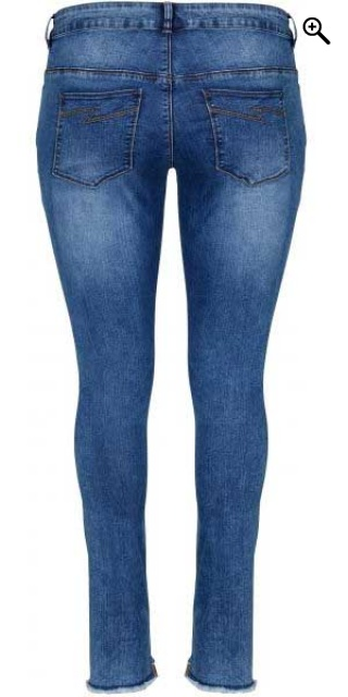 Zoey - Super strechy washed ankel jeans slank fit