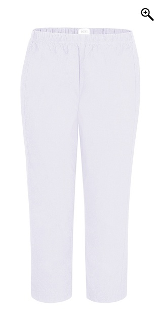 Zhenzi - Twist bengalin capri leggings - White