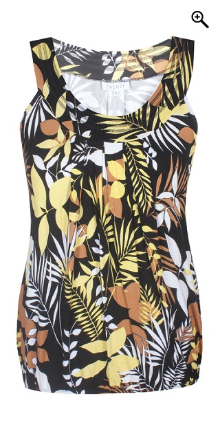 Zhenzi - Hoff patterned top - Sunflower