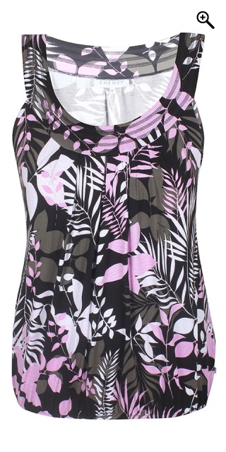 Zhenzi - Hoff patterned top - Royal orchid