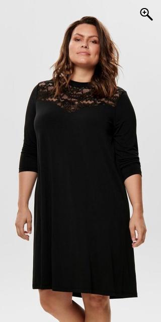ONLY Carmakoma - Kleid mit spitze detail - Black