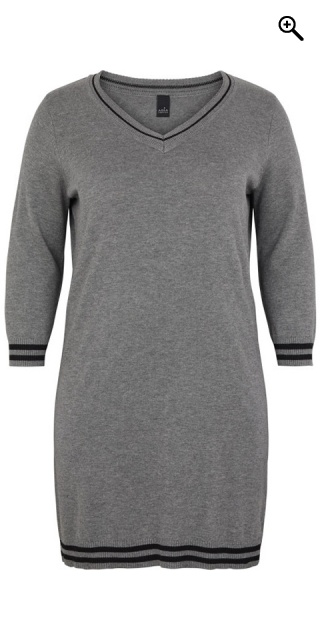 Adia Fashion - Dress - Medium grey melange