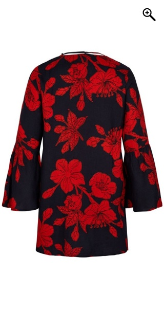 Adia Fashion - Tunica with red flowers