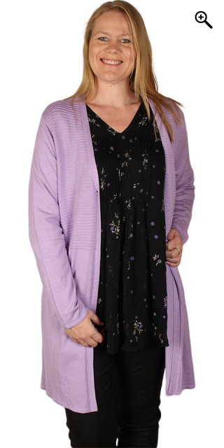 Zhenzi - Cardigan l/s - Lilac breeze