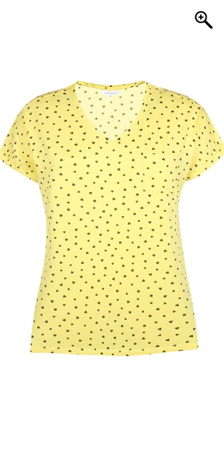Zhenzi - T-shirt in 100% cotton with hearts - Sunflower