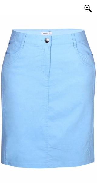 Zhenzi - Boyer bengalin skirt - Copenhagen blue