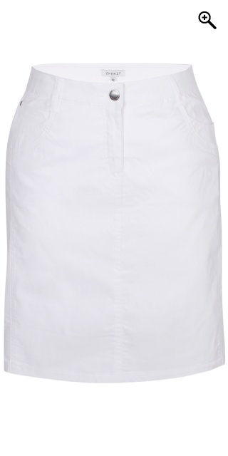 Zhenzi - Boyer bengalin skirt - White