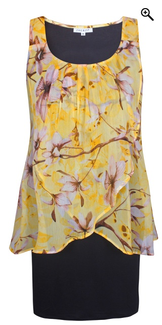 Zhenzi - Dole dress with floral print - Sunflower