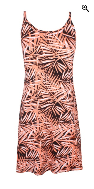 Zhenzi - Coty viscose dress with print - Peach