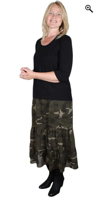 Cassiopeia - Laya skirt - Print 4 camouflage