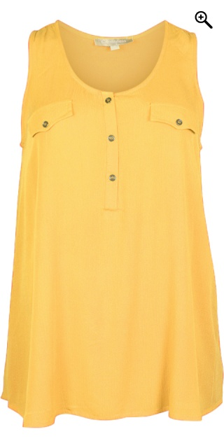 Cassiopeia - Liv top i crepe viscose - Lemon