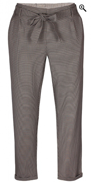Zhenzi - Luli chequered pants - Rust