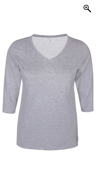 Zhenzi - Alberta T-Shirt - Light grau